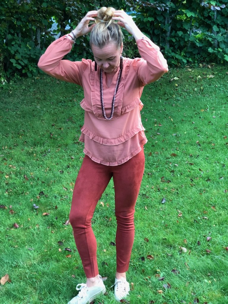 Katrin Uri - Tower Fitted Trousers - Burnt Sienna