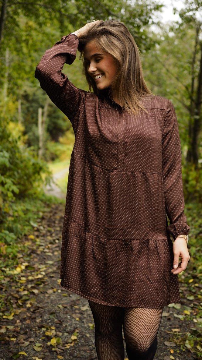 9d3808b2a Neo Noir - Ginny Dot Dress - Chocolate - The Nest Shop