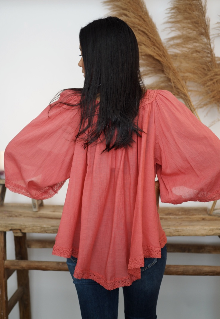 Mapp - May Blouse - Terracotta