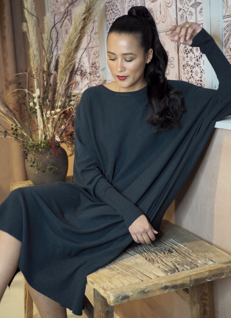 Nectar Clothing - Agathe Dress - Dark Petrol