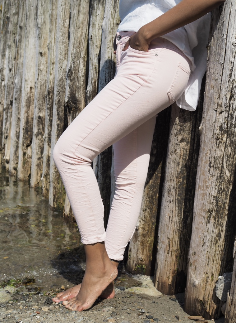 Mapp - Bow Twill Trousers - Rose